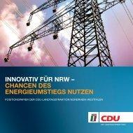 Energiepolitik - CDU Landtagsfraktion NRW