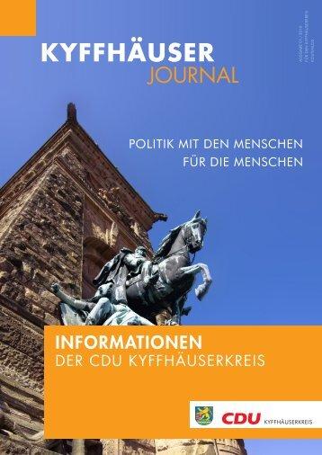 Ausgabe 01/2010 - CDU-Kyffhäuserkreis
