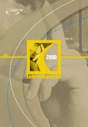 Jahresbericht 2000 - Cedefop - Europa