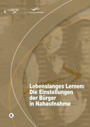 Lebenslanges Lernen: Die Einstellungen der Bürger in Nahaufnahme