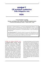 Cross-border-Leasing - Darstellungsversuch - cenjur