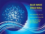 BLUE WAVE DISCO BALL - Cystic Fibrosis Foundation