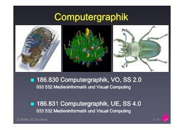 Computergraphik p g p p g p
