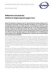 Pressemitteilung als pdf - CH-Open