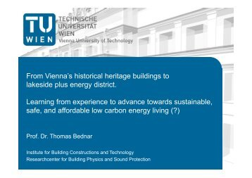 From Vienna's historical heritage buildings to lakeside plus energy ...