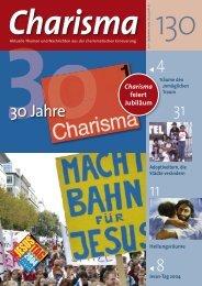 30 Jahre Charisma - Charisma Magazin