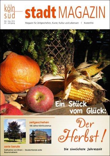 stadtMAGAZIN köln-süd | Ausgabe Oktober/November 2013