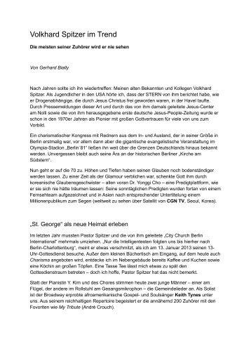 Volkhard Spitzer im Trend - Charisma Magazin