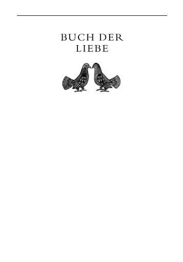 BUCH DER LIEBE - C.H. Beck