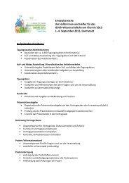 Aufgabenbeschreibung Einsatzbereiche der Helferinnen und Helfer ...