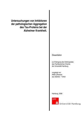 Untersuchungen von Inhibitoren der pathologischen Aggregation ...