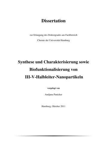 Synthese und Charakterisierung sowie Biofunktionalisierung von III ...
