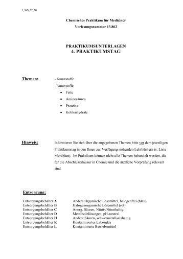 4. PRAKTIKUMSTAG - Chemie