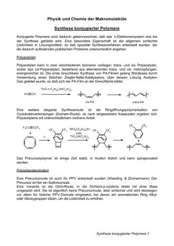 Synthese konjugierter Polymere - of /chemie