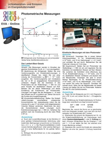 Lichtabsorption- und Emission im Energiestufenmodell