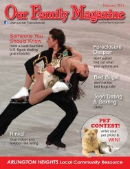 Join Us On Facebook! - Our Family Magazine
