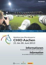 Informationen Information - CHIO Aachen