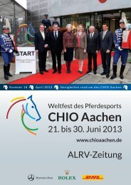 ALRV-Zeitung Ausg. 18 (April 2013) - CHIO Aachen