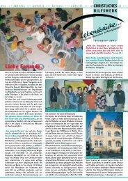 Rundbrief Dezember 2005 - Christliches Hilfswerk Lebensbrücke eV
