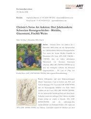 Christie's Swiss Art Auktion: Drei Jahrhunderte Schweizer ...