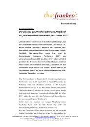 Internationaler Kräuterlikör des Jahres 2013 - Churfranken