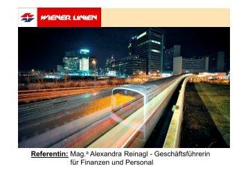 Referentin: Mag.a Alexandra Reinagl - Geschäftsführerin für ...