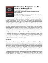 Electric Utility Deregulation and the Myths of the ... - Public Citizen