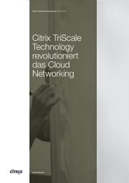 A revolution in cloud networking: Citrix TriScale
