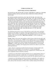 Citrix Software License Agreement