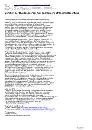 Mehrheit der Bundesbuerger fuer sparsamere ... - CL-Netz