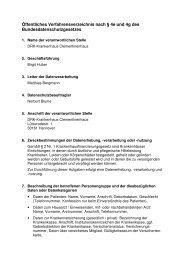 Öffentliches Verfahrensverzeichnis - Clementinenhaus Hannover