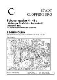 "Bebauungsplan Nr. 43 a ""Molberger Straße/Kirchhofstraße II"" - Stadt ..."