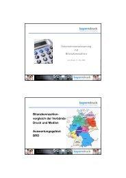 Bilanzkennzahlen- vergleich der Verbände Druck und Medien ...