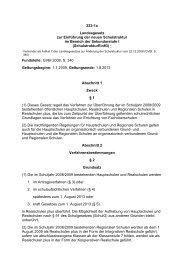 Landesgesetz zur Einführung der neuen Schulstruktur im Bereich ...