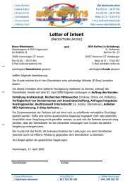 Letter of Intent - Reifen, Felgen, Montage und mehr... - Ihr ...