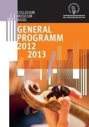 Konzertsaison 2012-2013 - Collegium Musicum Basel