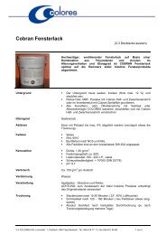 Cobran Fensterlack - colores