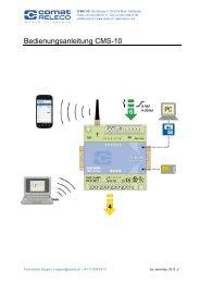 SMS Relay – Betriebsanleitung - Comat AG
