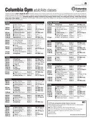 Columbia Gym Fitness Classes - Columbia Association