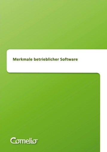 Betriebliche Software – Merkmale - Comelio