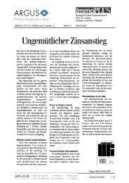 Ungemütlicher Zinsanstieg - Comparis.ch