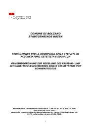 Gemeindeordnung zur Regelung des Friseur - Comune di Bolzano