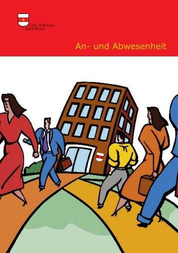"""Info-Broschüre """"An- und Abwesenheit"""", S. 4 - Comune di Bolzano"""