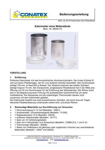 Bedienungsanleitung - Conatex-Didactic Lehrmittel GmbH