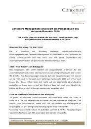 Pressemitteilung: Concentro veröffentlicht Studie