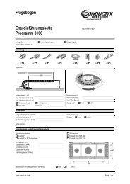 Fragebogen für Energieführungsketten - Conductix-Wampfler