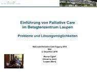 Einführung von Palliative Care im Betagtenzentrum Laupen