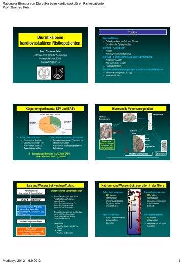 Rationaler Einsatz von Diuretika beim kardiovaskulären ...