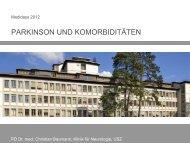 PARKINSON UND KOMORBIDITÄTEN - congress-info.ch | Home