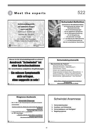 3 Meet the experts Schwindel-Anamnese